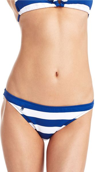 Ralph Lauren Blue Label Striped Hipster Swim Bottoms - Lyst