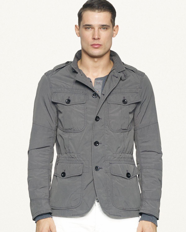 Ralph lauren Black Label Denim Cadet Sport Coat in Gray for Men | Lyst