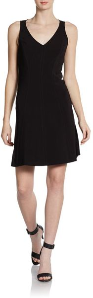 Rebecca Taylor V-neck Crepe Shift Dress - Lyst
