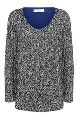 Robert Rodriguez Silk Back Sweater - Lyst