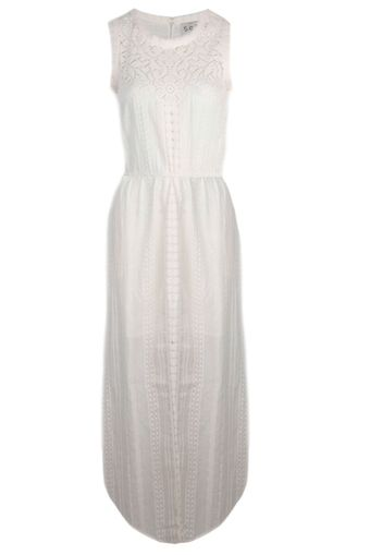 Sea Lace and Eyelet Long Dress Cream - Lyst
