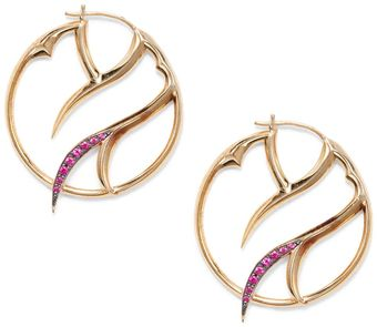 Stephen Webster Ruby Pavã Thorn Hoop Earrings125 Inches - Lyst