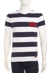 Superdry Striped Pocket Crew Neck Tee Eclipseoptic White - Lyst