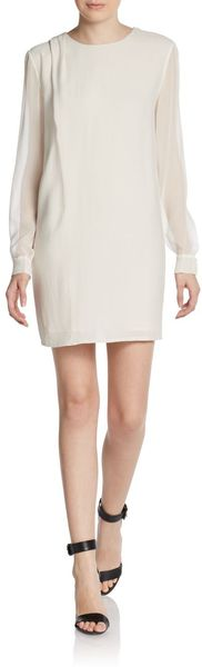 Thakoon Addition Silksleeve Shift Dress - Lyst