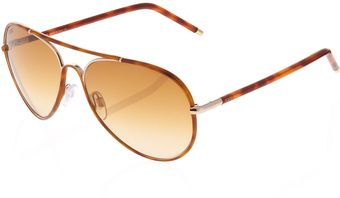 Tod's Doublebridge Aviator Sunglasses Shiny Rose Gold - Lyst