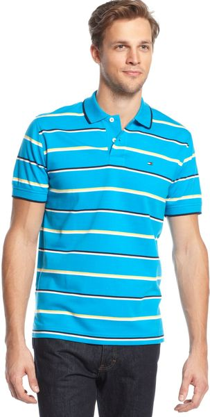 Tommy Hilfiger Burch Striped Polo Shirt - Lyst