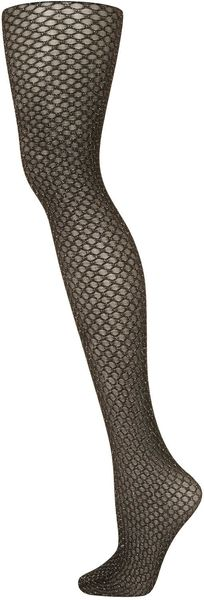 Topshop Gold Ombre Shimmer Tights - Lyst