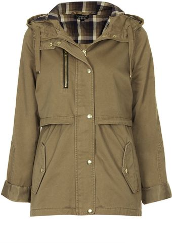 Topshop Hooded Lightweight Jacket - Lyst