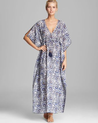 Tory Burch Madura Long Cover Up Caftan - Lyst