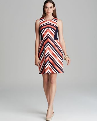 Trina Turk Dress Upcoming Stripe Swing - Lyst