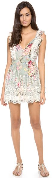 Zimmermann Sundance Embroidered Playsuit - Lyst