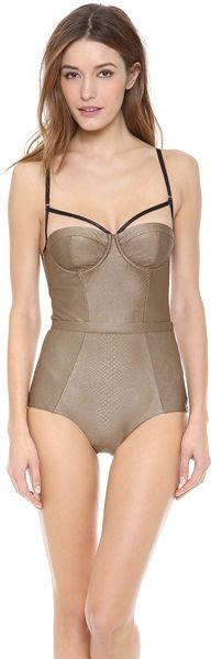 Zimmermann Scout Balcony One Piece Swimsuit - Lyst
