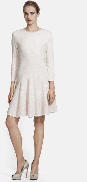Alexander Mcqueen Crochet Lace Full Skirt Dress In White