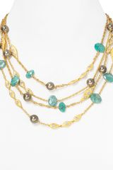 Alexis Bittar Amazonite Multistrand Necklace 16 - Lyst