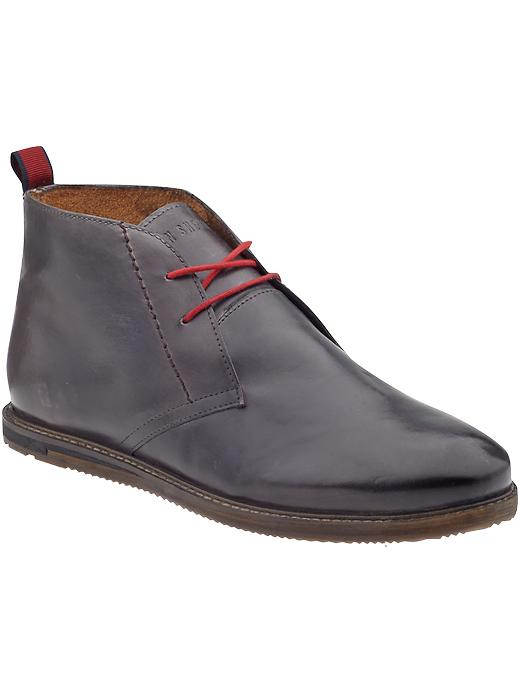 ben sherman aberdeen leather boots in gray for grey