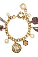 Carolee Brown Eyed Girl Charm Bracelet - Lyst