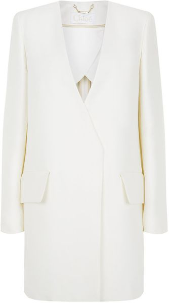 Chloé Chloe Tailored Long Jacket - Lyst