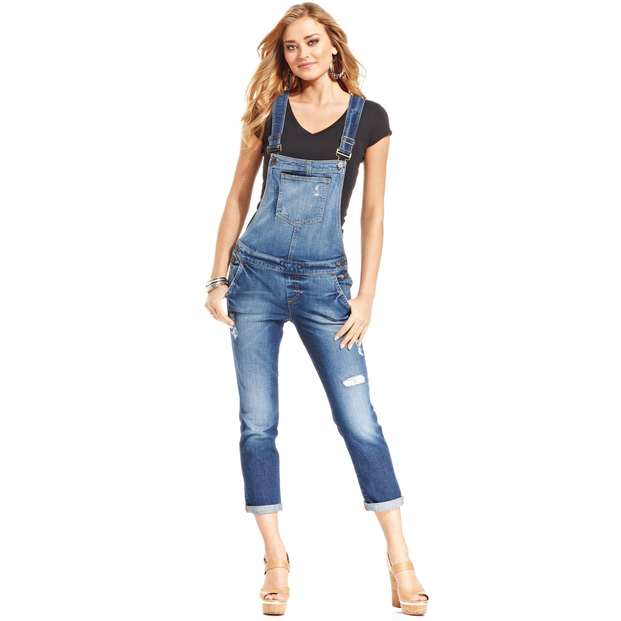 ac3a47268853 Gallery. Previously sold at  Macy s · Women s Denim Overalls Women s Denim  Jumpsuits Women s Guess ...