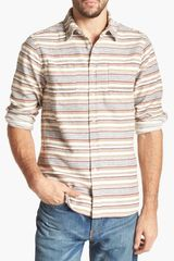 Howe On The Bamm Stripe Flannel Shirt - Lyst