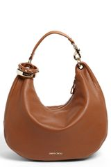 Jimmy Choo Solar Large Leather Hobo - Lyst