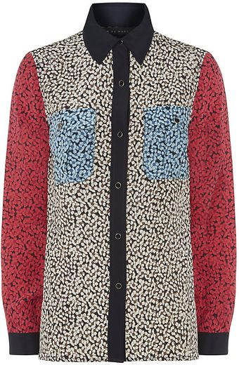 Marc By Marc Jacobs Bianca Printed Silk Shirt - Lyst