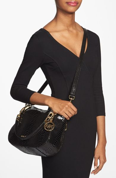 Michael Kors Medium Shoulder Bag In Black – Shoulder Travel Bag