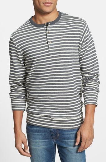 Obey Low Down Henley Sweatshirt - Lyst