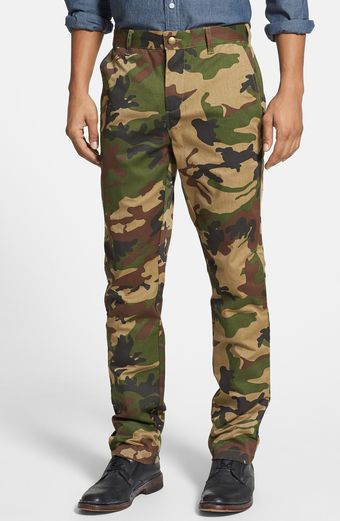 Obey Good Times Slim Fit Twill Chinos - Lyst