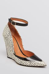 Rachel Roy Pointed Toe Wedge Pumps Avelli Ankle Strap - Lyst
