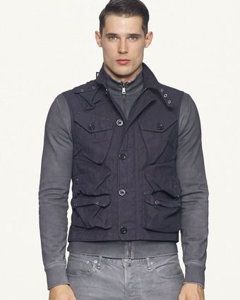Ralph Lauren Black Label Denim Naval Combat Vest - Lyst