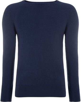 Remus Uomo Cabled Raglan Sleeve Detail Sweater - Lyst
