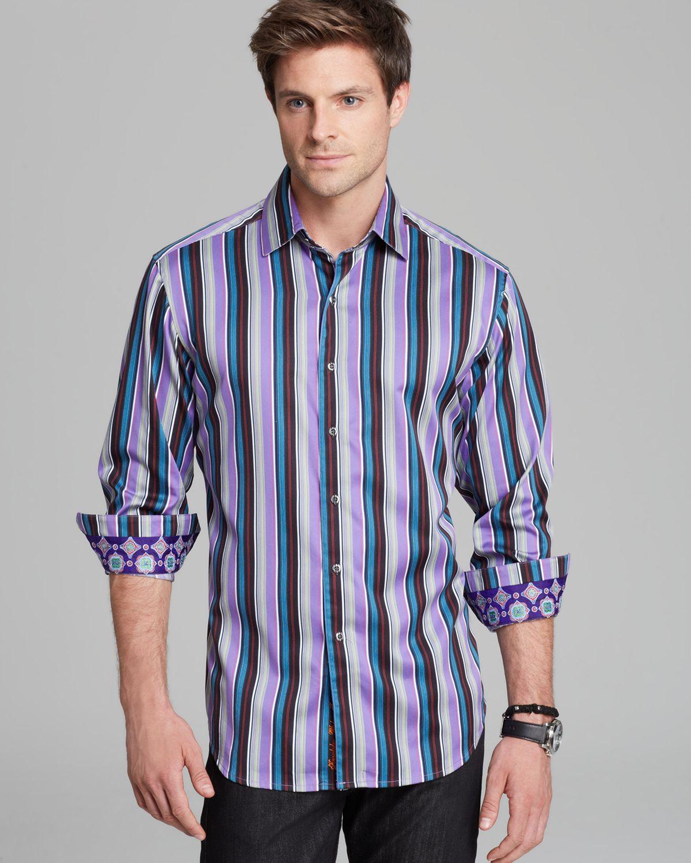 Robert graham schoolhouse stripe sport shirt classic fit for Robert graham sport shirt