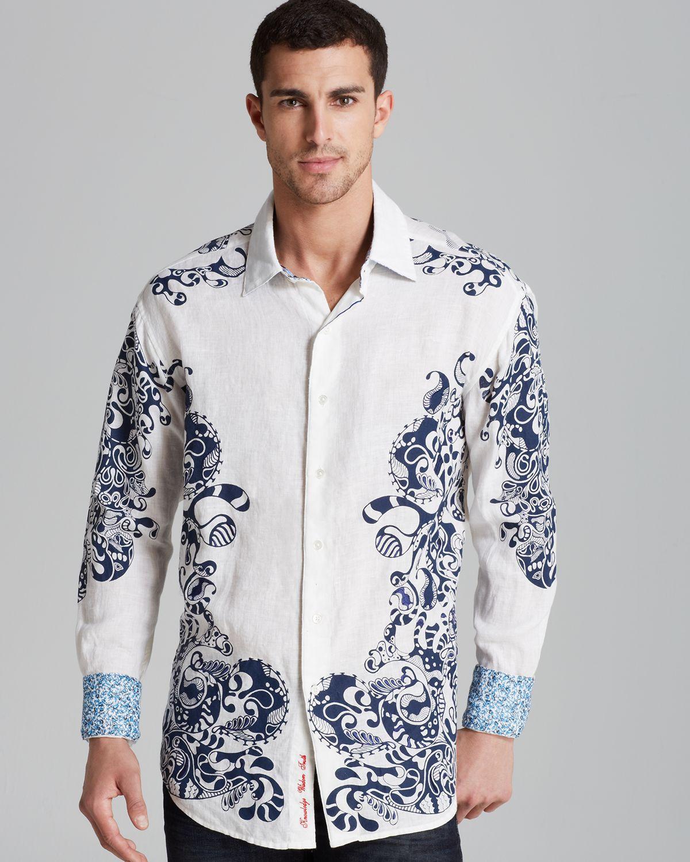 Robert graham savannah linen sport shirt classic fit in for Robert graham tall shirts