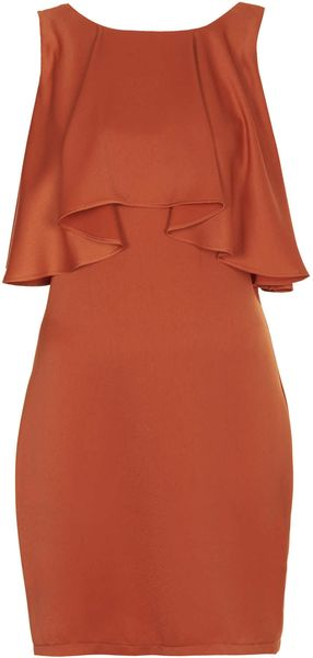 Topshop Frill Back Dress - Lyst