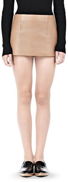 Alexander Wang Micro Mini Skirt with Exposed Dart - Lyst