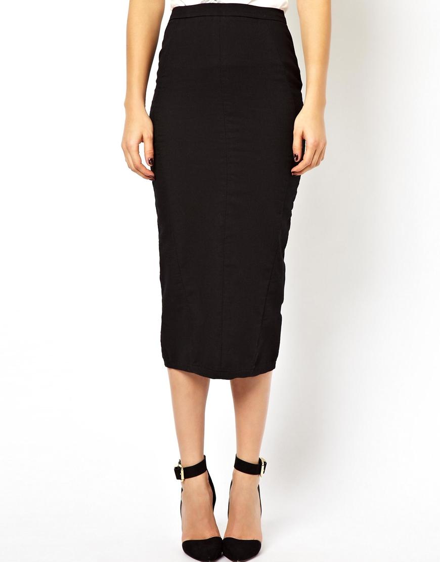 Black denim midi skirt – Modern skirts blog for you