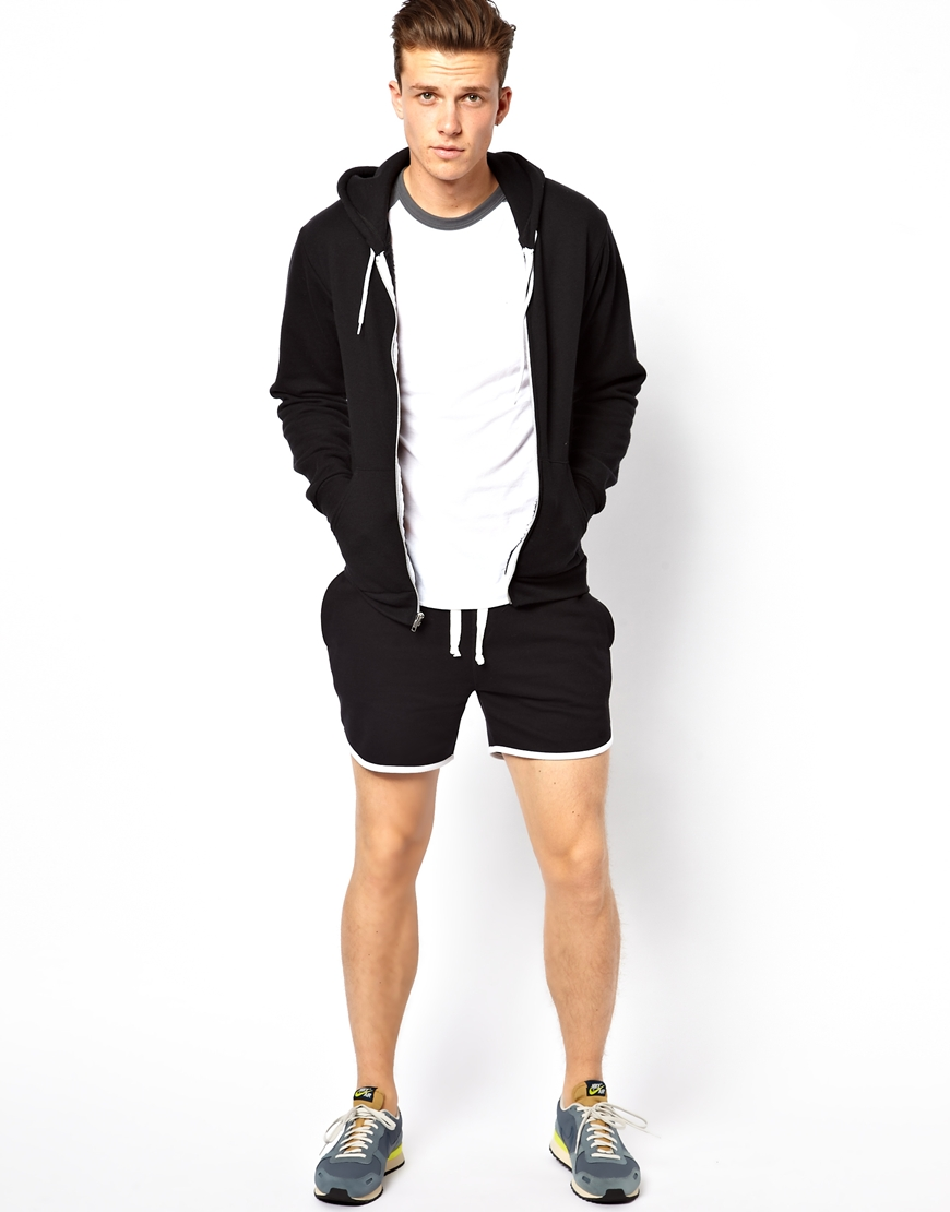 Asos Jersey Shorts In Short Length in Black for Men | Lyst