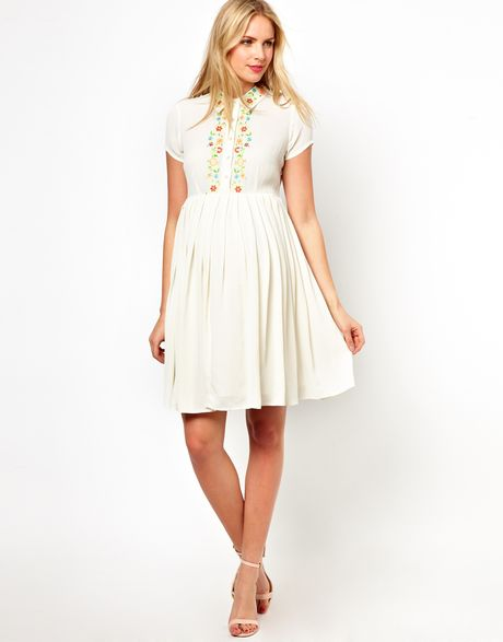 Asos Maternity Exclusive Shirt Dress with Floral ...