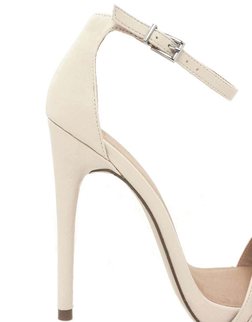 Lyst - Asos High Life Heeled Sandals in Natural
