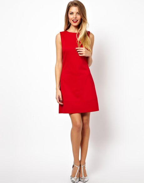 lovely red shift dress outfit 2017