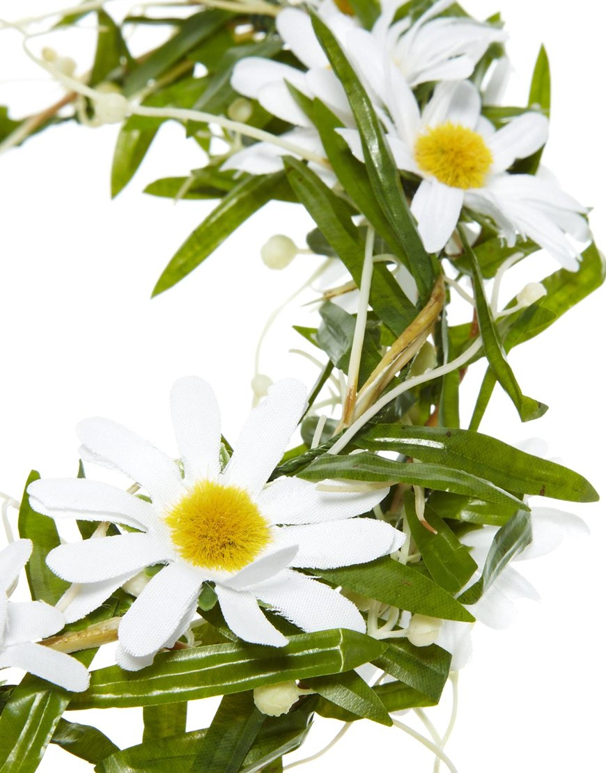 Lyst asos limited edition double daisy hair garland in white gallery izmirmasajfo