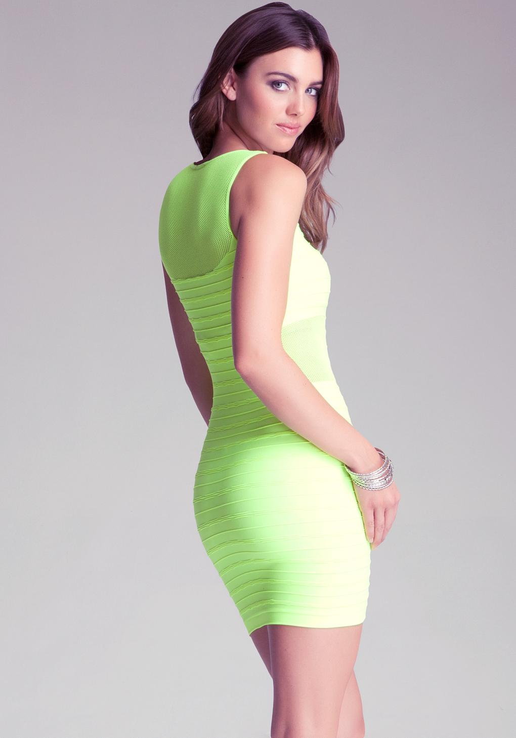 Bebe Elsa Tank Dress in Green