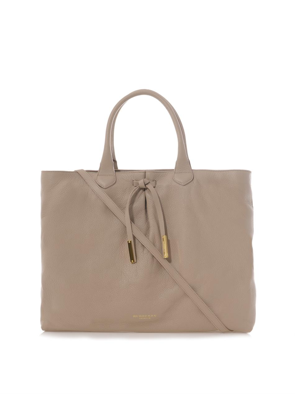 Lyst - Burberry Prorsum Studley Leather Tote in Brown b92189d83f407