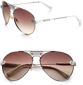 Chloé Metal Aviator Sunglasses - Lyst