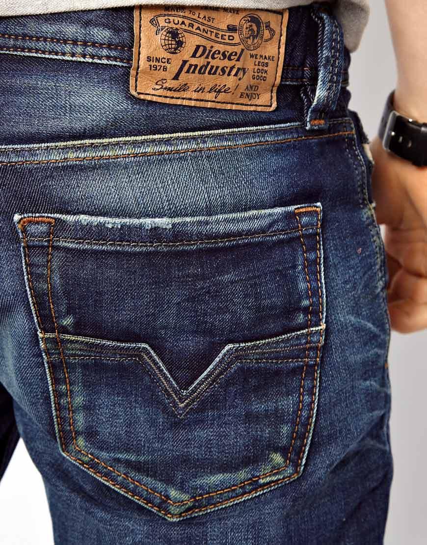 diesel jeans larkee straight 813t in blue for men lyst. Black Bedroom Furniture Sets. Home Design Ideas