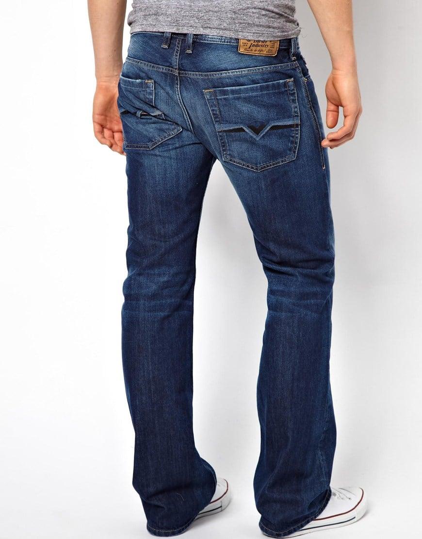 0d58af63841 DIESEL Jeans Zatiny Bootcut 8xr Mid Wash in Blue for Men - Lyst