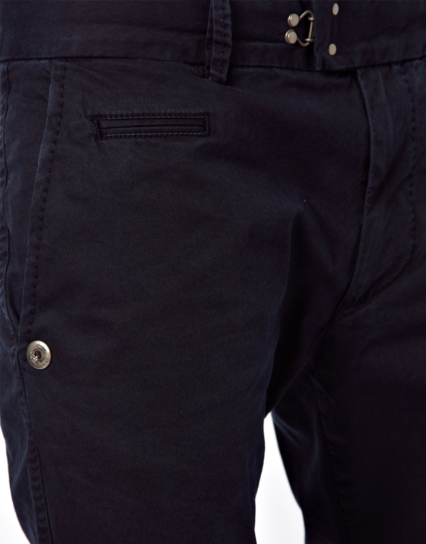 750e590f DIESEL Chinos Chi Tight Slim Fit Washed in Blue for Men - Lyst