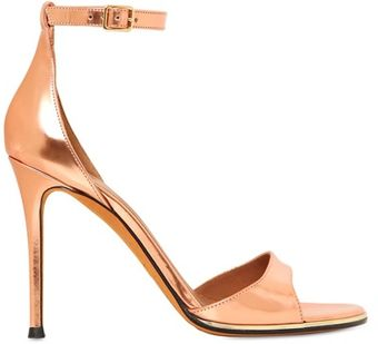 Givenchy 100mm Metallic Leather Sandals - Lyst