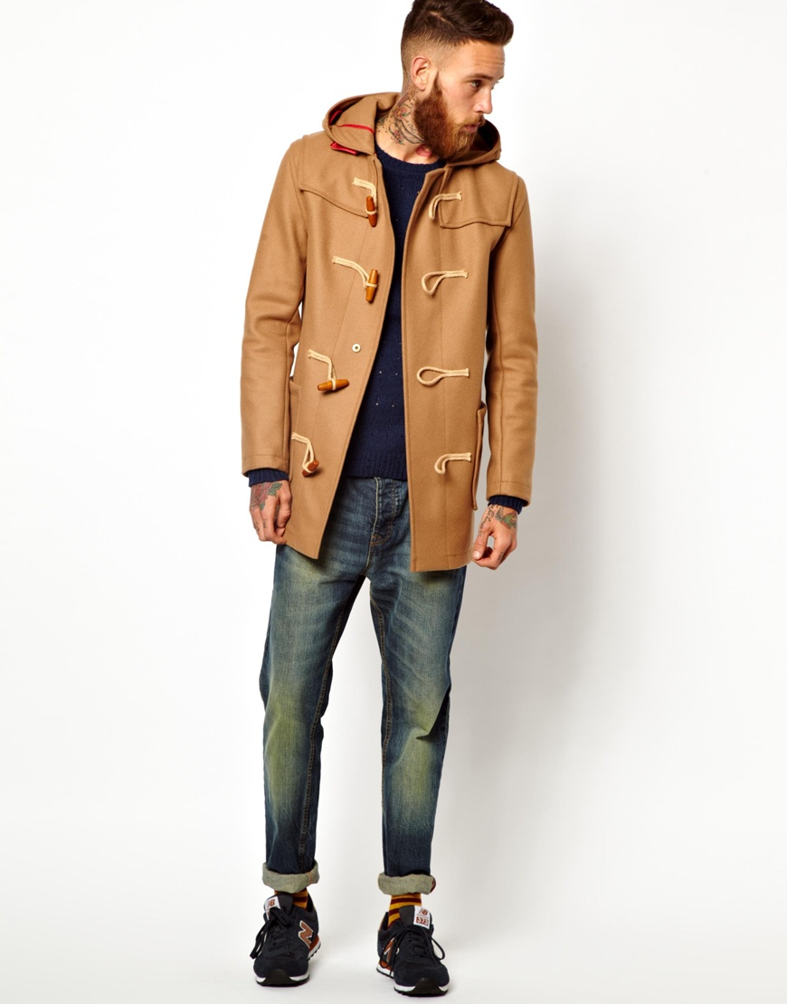 Gloverall Duffle Coat in Melton Wool in Brown for Men | Lyst