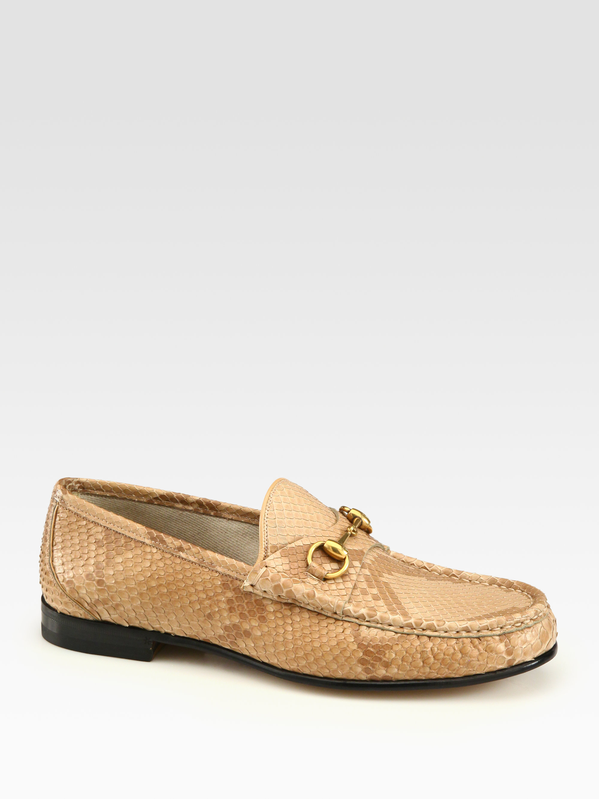 Lyst - Gucci Horsebit Grained-leather Driving Shoes in